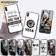 WEBBEDEPP Heda Lexa The 100 TV Show Coque Glass Phone Case for Apple iPhone 11 Pro X XS Max 6 6S 7 8 Plus 5 5S SE