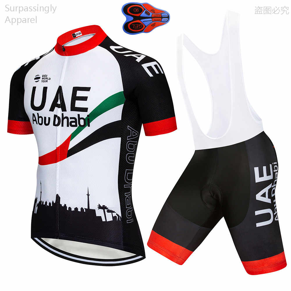 362db7bccc3 2019 Pro Team UAE Cycling Jersey Set Summer MTB Bicycle Clothing Maillot  Ropa Ciclismo Racing Bike