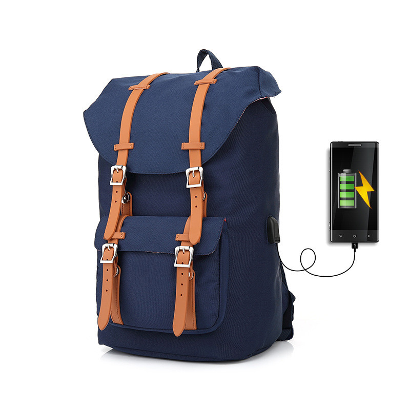 Canvas Backpack Women 39 s Daypack Backpack Men USB Laptop Computer Bags for Travel camouflage backpack Unisex Casual Design in Backpacks from Luggage amp Bags
