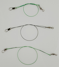12 Pcs Anti-bite Fly leash Fishing lead Line Rope Wire leading line Swivel Stainless Steel Rolling Swivels 15cm 20cm 25 cm