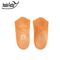 3 4 Leather Insole For Sport Shoes Arch Support Insole Athletic Insole For Men Women Orthopedic