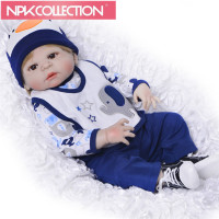 New Design 23 Inch Reborn Baby Dolls Full Silicone Vinyl Newborn Dolls For Boys Real Looking