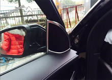 For Mercedes-Benz GLC X205 2015 2016 2017 ABS Inner Front Pillar A Tweeter Speaker Audio Loudspeaker Sound Bezel Cover Trim