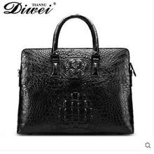diwei 2017 new hot free shipping high-end  crocodile men bag men handbag business document laptop bag rare male quality goods
