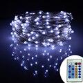 15 m 150 Leds LED Luzes Da Corda De Fio De Prata Estrelado Luzes da Decoração da Festa de Natal + 12 V Adaptador + 24Key Controle remoto e Dimmer