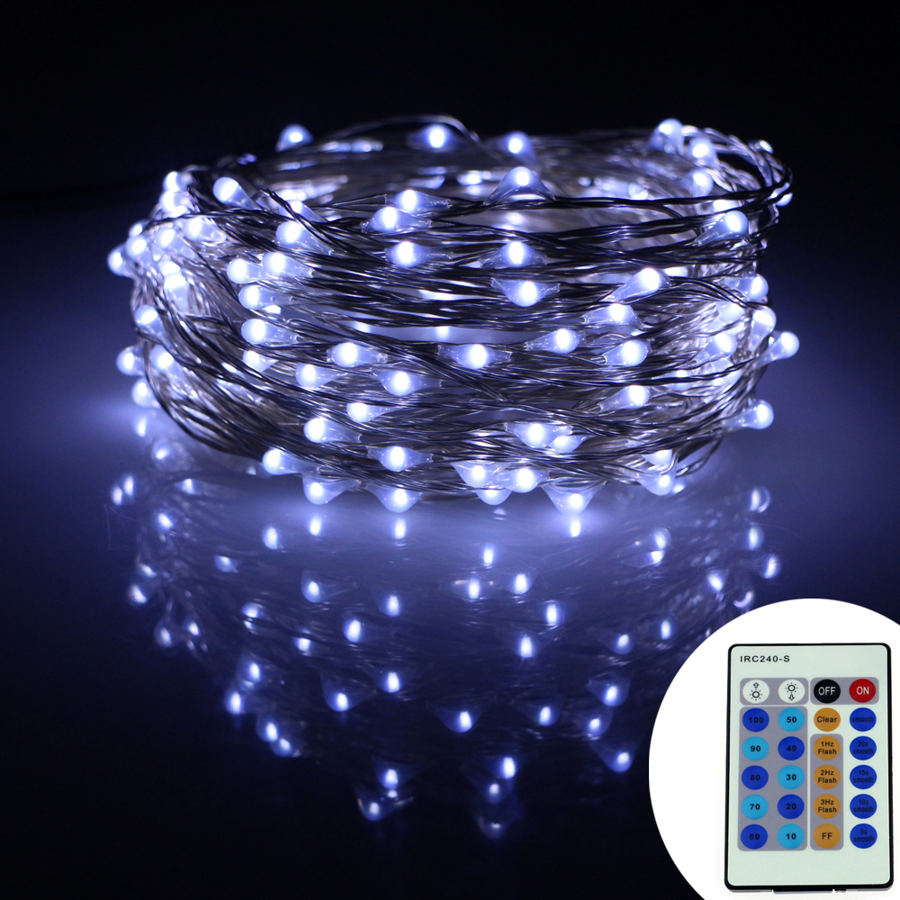 15m 150leds silver wire led string lights starry lights decoration christmas party12v adapter - Christmas Light Dimmer