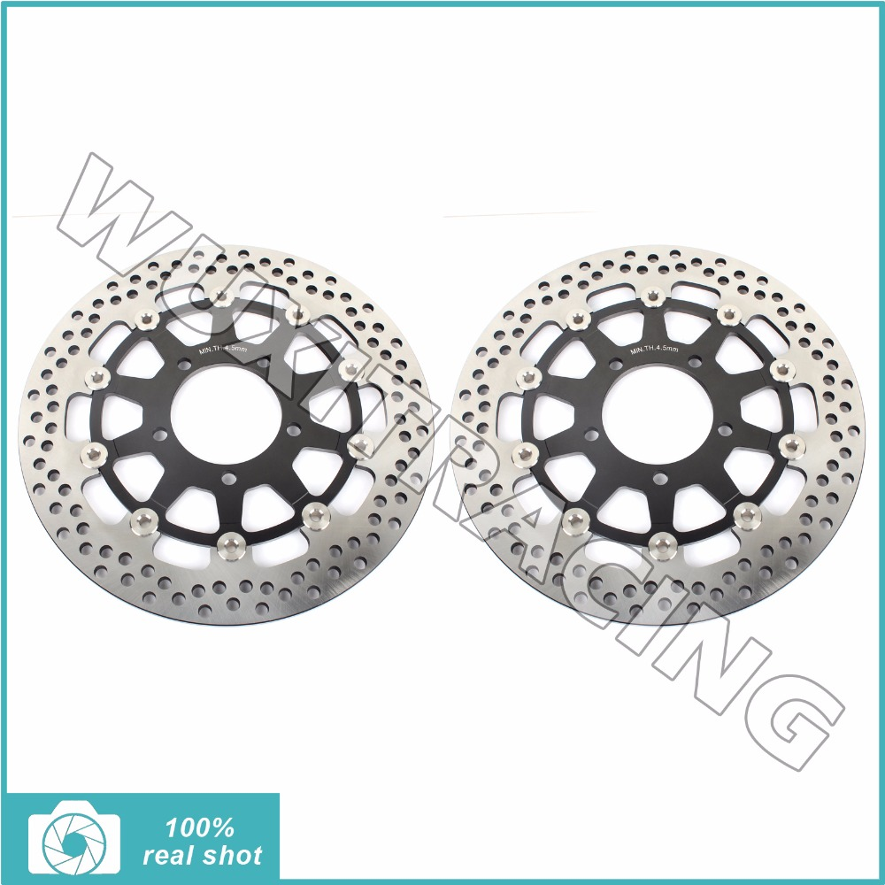 300mm Motorcycle DISC FRONT Brake Disc Rotor For KAWASAKI ZX6R NINJA ER6F ER6N Z750 Z1000 ZX10R ZX10R keoghs motorcycle brake disc brake rotor floating 260mm 82mm diameter cnc for yamaha scooter bws cygnus front disc replace