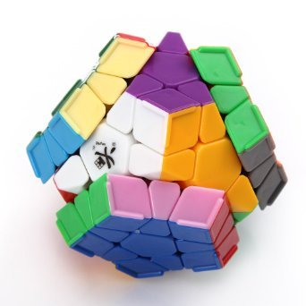 LeadingStar DaYan Megaminx with Ridges Stickerless Speed Magic Cube White Color Great Educational Toy For Children zk35