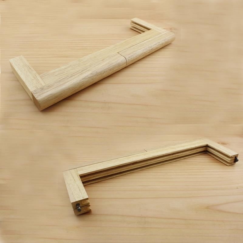 ▽12,5x5 pulgadas marrón monedero marco de madera - a780