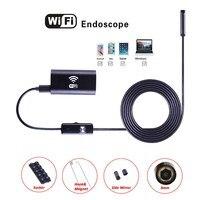 Wifi USB Endoskop Kamera LED ile 8 mmHD Yarı Sert Tüp Endoskop Android iOS için Kablosuz Wifi Borescope Video Muayene