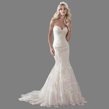 2018 Newly Design Mermaid Wedding Dresses Court Train