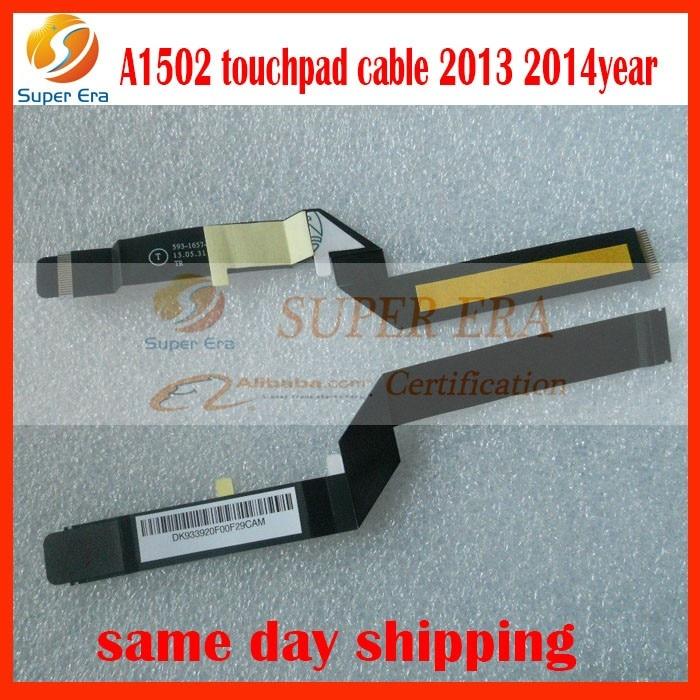 50gab / partija MacBook Pro 13inch A1502 593-1657-A skārienpaliktnispaneļa elastīgais kabelis tikai 2013. gadam 2014.gadu pilnīga pārbaude