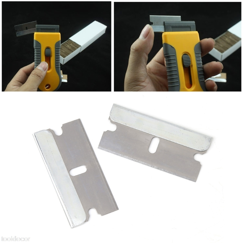 Free Postage 5Pcs Ceramic Glass Oven Window Tinting Razor Scraper Stainless Steel 1.57''Blade -B119