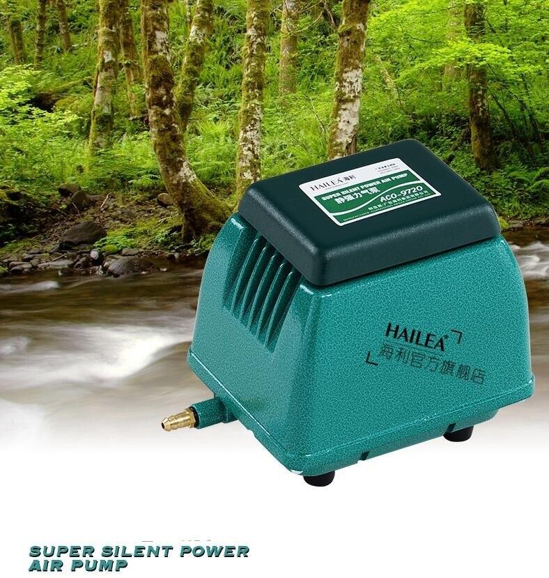 HAILEA ACO-9720 grande pompe à air pour étang à poissons et aquarium Super silencieux pompe à oxygène augmentant 20 W coque en alliage d'aluminium