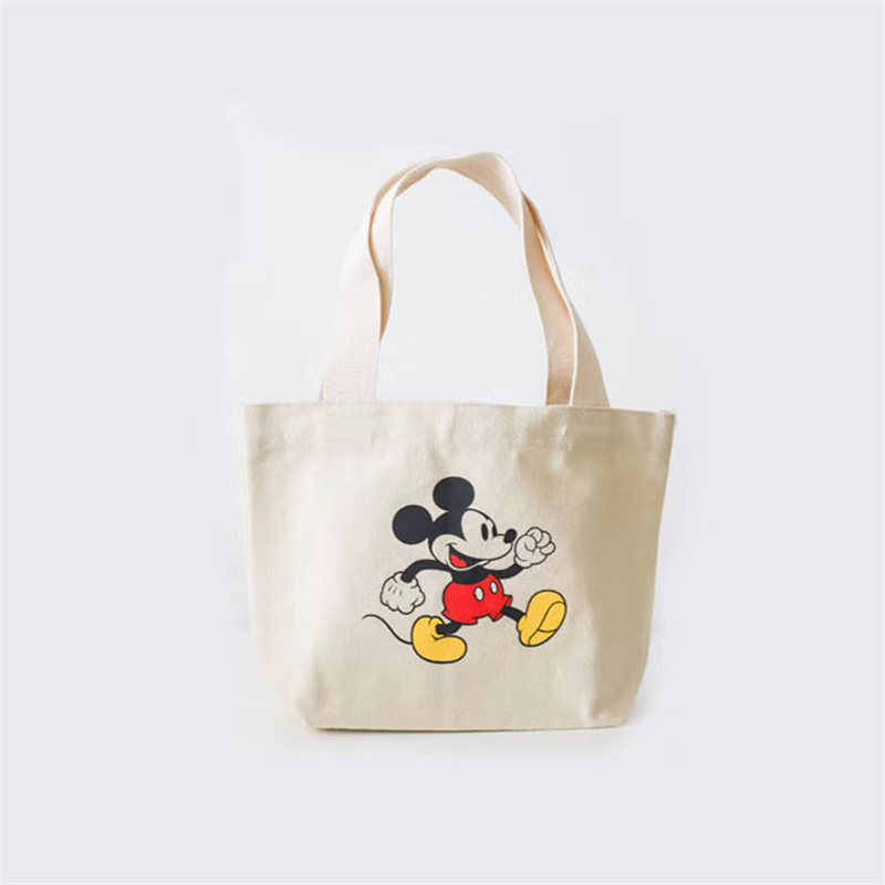 DISNEY MICKEY MOUSE COTTON CANVAS TOTE BAG