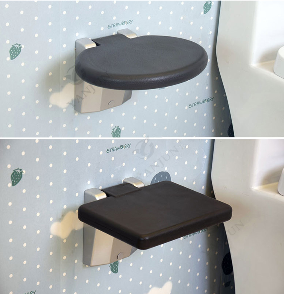 YANJUN Folding Wall Shower Seat Wall Mounted Relaxation Shower Chair ...