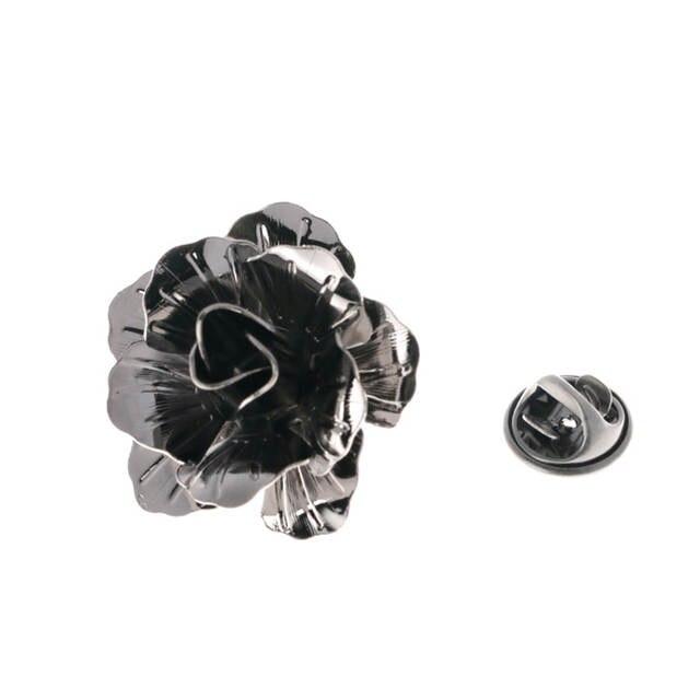 06e988ec51e Mens Fashion Rose Flower Lapel Pin for Men Wedding Party Suit Lapel Brooch  Pin Boutonniere Shirt