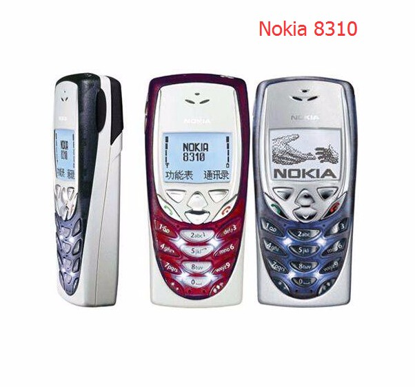 Refurbished phone Hot Sale Nokia 8310 Mobile Cell Phone 2G GSM 900/1800 Unlocked 8310 Free shipping red 1