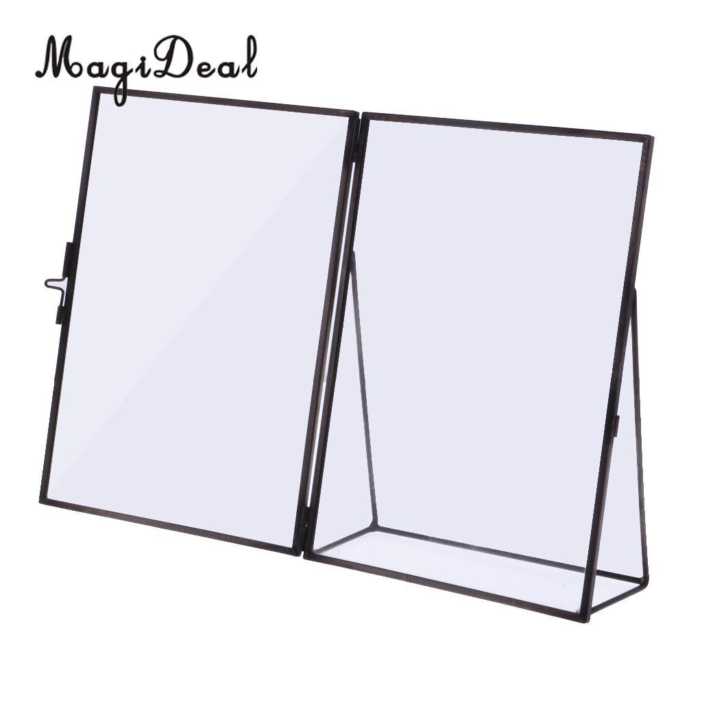 MagiDeal Glas Bilderrahmen Antike Freistehende Messing Bilderrahmen ...