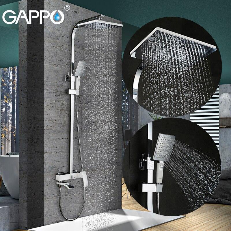GAPPO bagno doccia rubinetto set bronzo vasca da bagno rubinetto miscelatore rubinetto cascata doccia a parete testa doccia Doccia cromo rubinetto GA2407-8