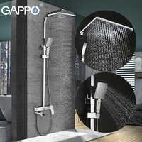 GAPPO bathroom shower faucet set bronze bathtub faucet mixer tap waterfall wall shower head shower chrome Shower tap GA2407-8