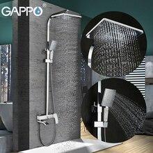 GAPPO prysznic kran do łazienki zestaw brąz bateria do wanny bateria z kranu wodospad prysznic ścienny prysznic chrome bateria prysznicowa GA2407 8