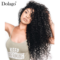 360 Lace Frontal Wig Pre Plucked With Baby Hair 180% Density Deep Wave Full End Lace Front Human Hair Wigs Dolago Remy
