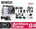Wimius action camera full hd 4 k 1080 p wi-fi 2.0 ltps + 0.66 tela de Vídeo Mini ir deportiva Esportes Camara Cam Capacete À Prova D' Água Pro