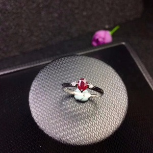 Image 3 - New shop promotion natural ruby lady ring color good 925 Silver Mosaic explosion recommended