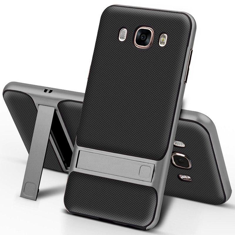 Para Samsung Galaxy J7 2016 caso TPU + PC 2 en 1 teléfono casos Ultra fino del soporte del teléfono Cove para samsung Galaxy J710 J710F J710M caso