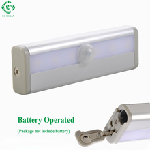 Under Cabinet Lights Night Lamp Toliet Motion Sensor Magnetic Strip LED Closet Light Battery Emergency Lamps