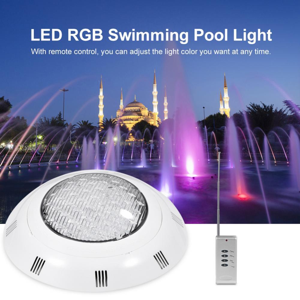IP68 Pool Light Underwater Swimming Pool Light Ac 12V RGB Multi Color LED Waterproof Lamp Landscape