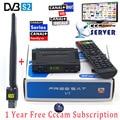 1 Ano Europa Cccam Cline Full HD 1080 P FTA FREESAT V7 Servidor Cccam DVB-S2 Tuner Receptor de Satélite Itália Espanha Árabe + USB Wi-fi