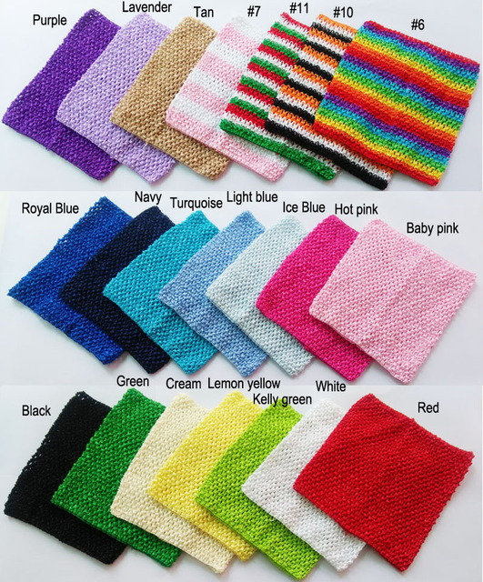 9x10 inches  Crochet tube top tutu top baby girl crochet pettiskirt tutu top crochet headbands Mixed color 10pcs per lot