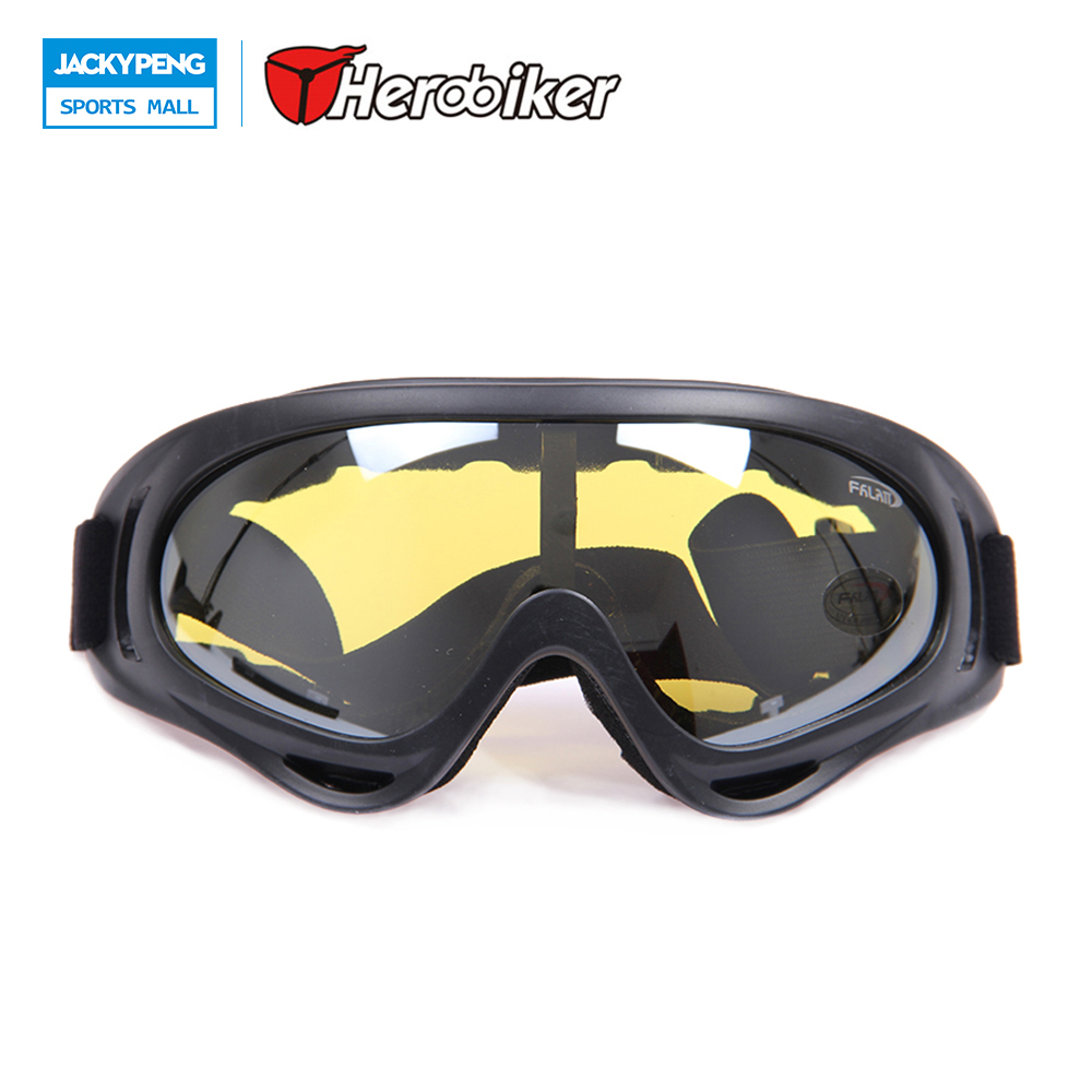 HEROBIKER Motorcycle Riding Goggles Outdoor Sports Windproof Ski Snowboard Glasses Motocross Off-Road Dirt Bike Racing Eyewear