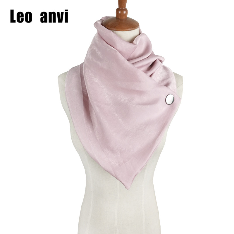 Leo Anvi Scarves Women 2019 Neck Rings Scarf Button Colorful Hijab Gift For Her Foulard Femme Ponchos And Capes Bufanda Mujer