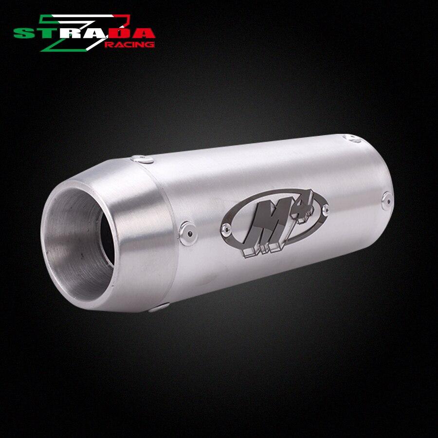 M4 Logo Short Exhaust Pipe Cylinder For Honda VTEC CB400 CBR250 CBR400 CBR600 F4I XJR400 VFR400 74A F5 Motorcycle Accessories стоимость