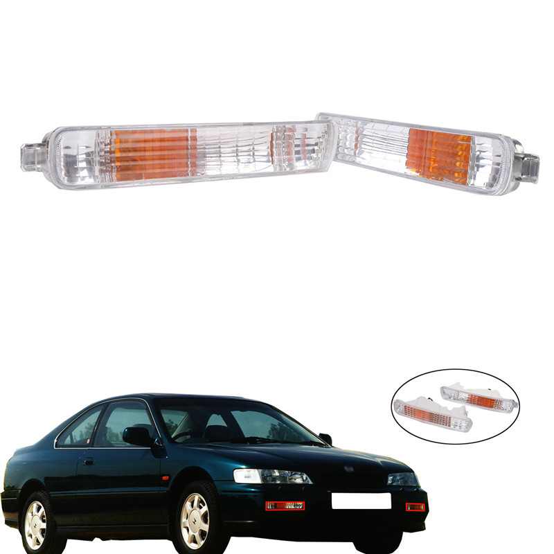 2x Front Bumper Corner Light Covers Turn Signal Light for Honda Accord 1994 1995 33350SV4A01/33300SV4A01 Car Light Accessorise// новый генератор подходит для honda accord odyssey 2 3l f20b 2 0l oem 31100 p5m 0030