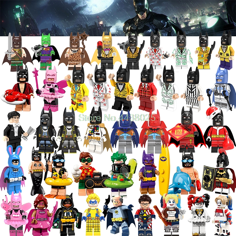 Model Building Cheap Price Legoing Batman Super Heroes Harley Quinn Clown Poison Lvy Robin Action Figures Building Blocks Toys For Children Christmas Gifts