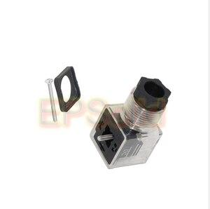 Image 3 - Free Shipping 10PCS/LOT Din 43650 A Line Socket Plug for Valve Solenoid Coils Connector DIN43650A Led Indicator DC VOLT