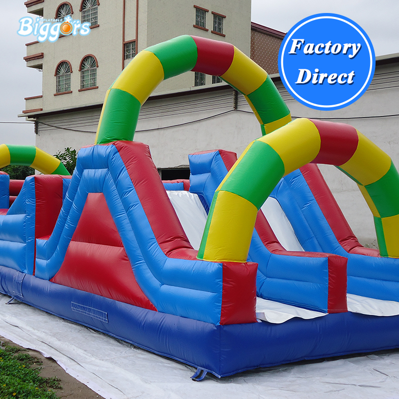 PVC Factory Supply Commercial Extreme Fun Inflatable Obstacle Course Game With BlowersPVC Factory Supply Commercial Extreme Fun Inflatable Obstacle Course Game With Blowers