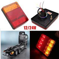 8 LED Car Truck Rear Tail Light Warning Lights Rear Lamps Waterproof Tailights DC 12V High
