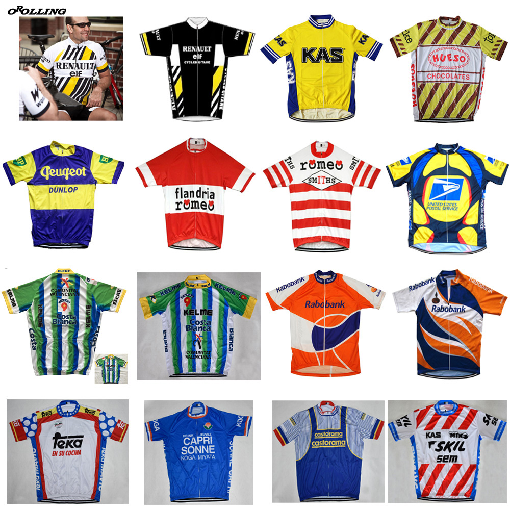 Multi Types Retro Any Choice New Team Cycling Jersey Customized Road Mountain Race Top OROLLING CLASSICAL