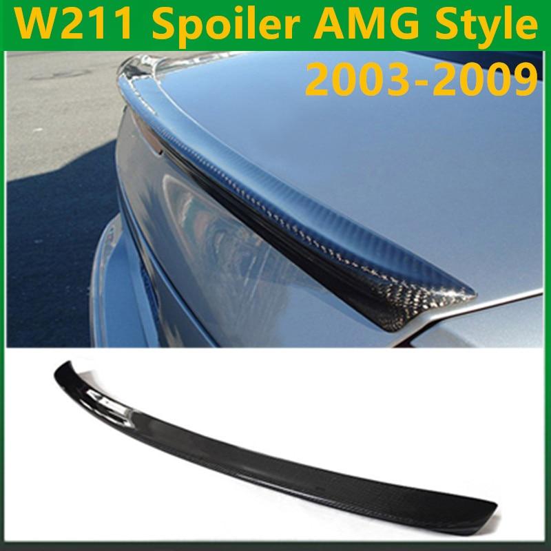 Mercedes W211 AMG style carbon fiber rear wing spoiler trunk boot lip spoiler for benz E class 2003 - 2009 W211 AMG E320 for nissan skyline r32 gtr gtst frp fiber glass nismo trunk boot lip spoiler wing