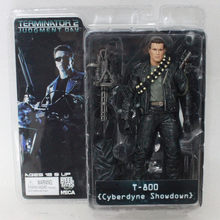 "7 ""18 cm neca o exterminador do futuro 2 action figure t-cyberdyne showdown pvc figura toy(China)"
