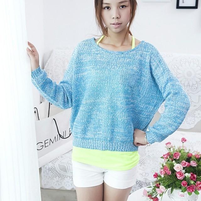 2014 de la venta directa superior Fasion Formal de punto de algodón completo Tricotado mujeres del otoño nuevo arco dulce suéter flojo suéter femenino