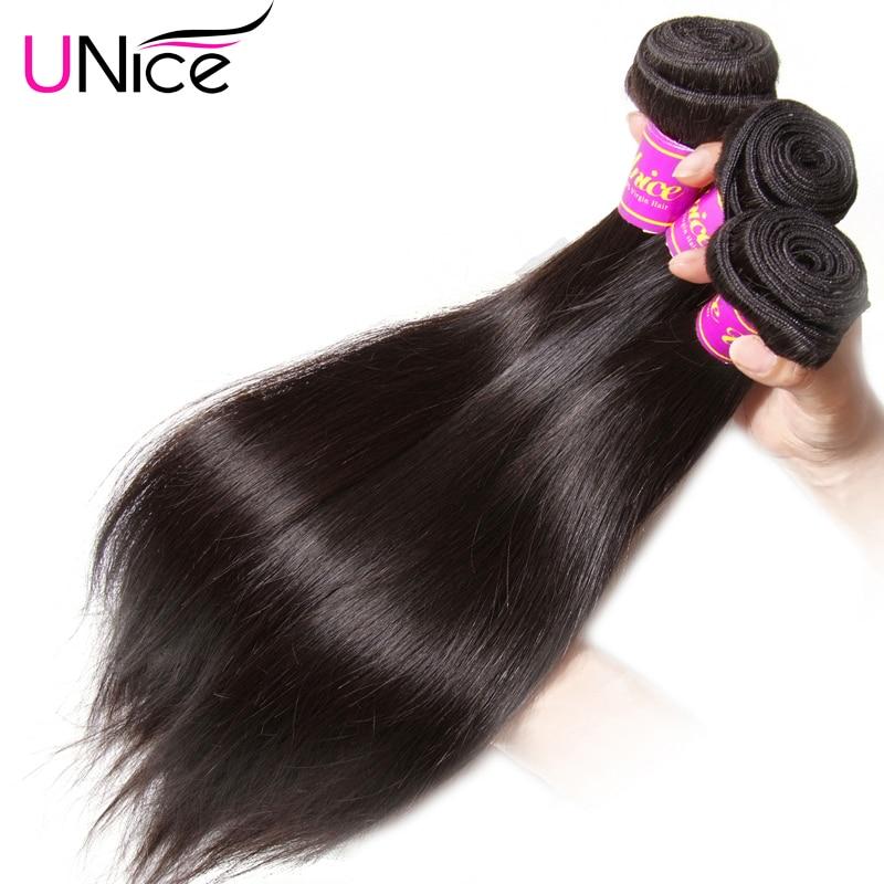 UNice Brazilian Straight Hair Weave 3Pcs Sales7A