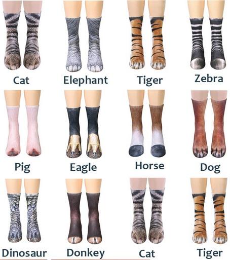 Funny Animal Crew Socks Paw Feet Sublimated Print Novelty Adult Women Men  2018 New Sexy Warm Sock warm socks crew sockssock paws - AliExpress