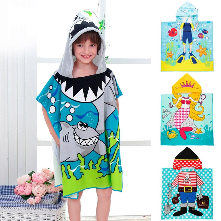 Baby Infant Girl Boy Cotton Hooded Bath Towel Wrap Bathrobe Cute Cartoon Design