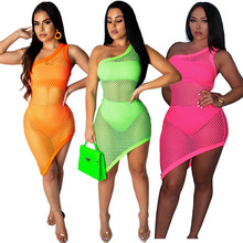 irregular mesh off the shoulder tight mini neon dress summer womens sexy club wrap dresses woman party night 2019 new arrival white off the shoulder wrap mini dress